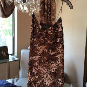 Chetta B evening dress with black stones